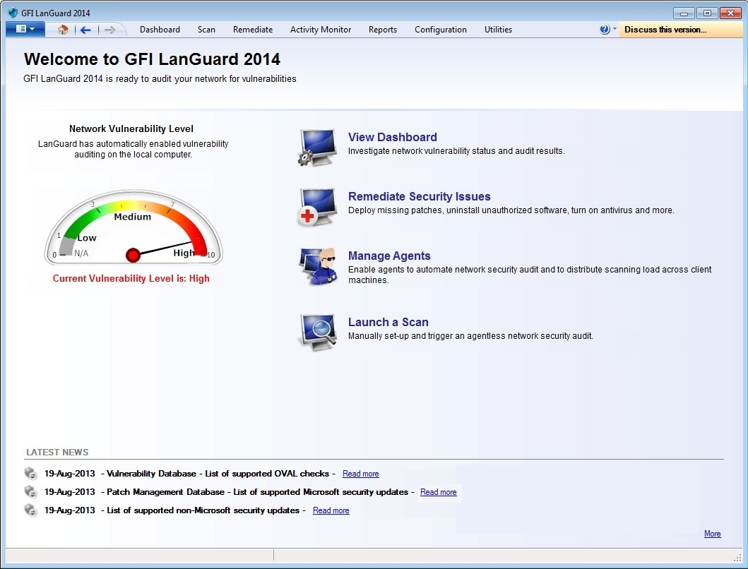GFI LanGuard screen shot