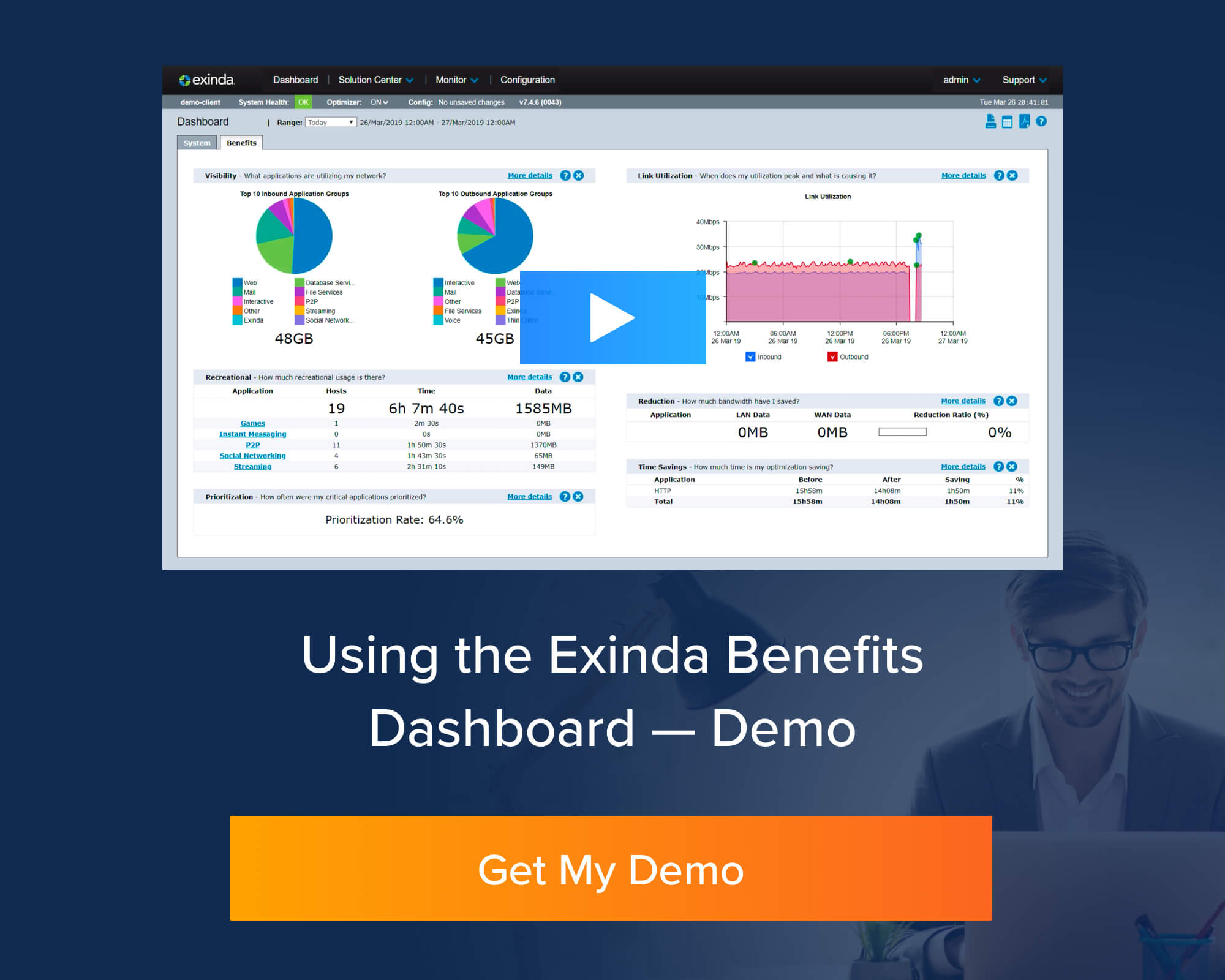 exinda dashboard walkthrough